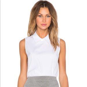 "THEORY ""Marbie"" sleeveless poplin shirt size M"